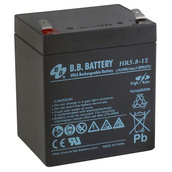 Аккумулятор BB Battery 12V 5,8Ah HR5,8-12