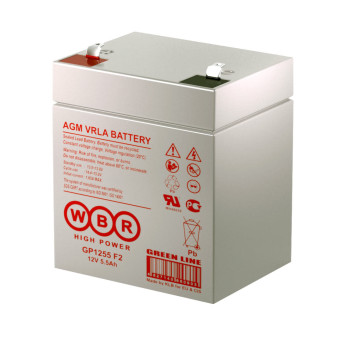 Аккумулятор WBR 12V 5.5Ah GP1255