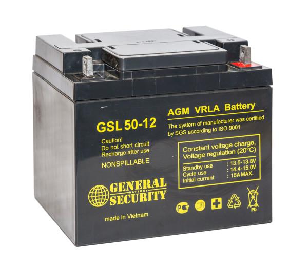Аккумулятор General Security 12V 50Ah GSL50-12