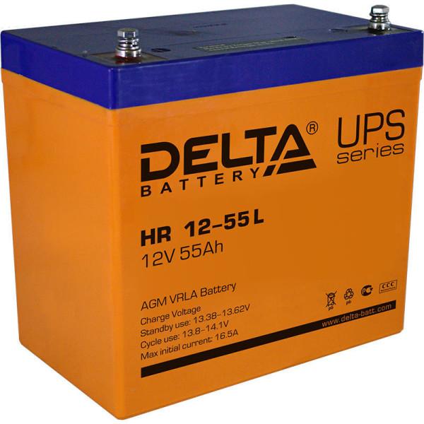Аккумулятор Delta 12V 55Ah HR 12-55 L