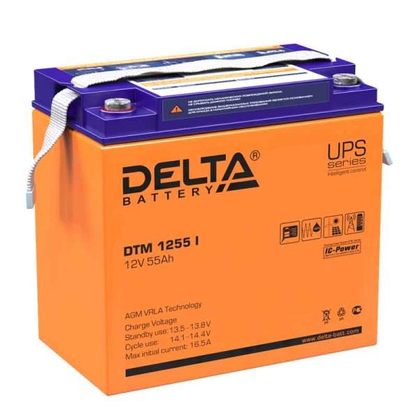 Аккумулятор Delta 12V 55Ah DTM 1255 I