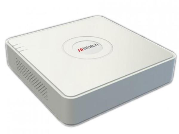 8-канальный гибридный HD-TVI видеорегистратор HiWatch DS-H108UA c технологией AoC (аудио по коаксиальному кабелю)