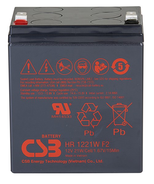 Аккумулятор CSB 12V 5Ah HR1221W