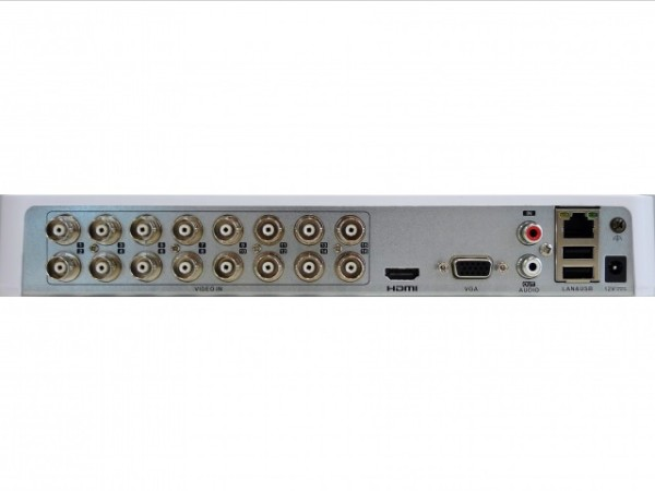 16-канальный гибридный HD-TVI видеорегистратор HiWatch DS-H216QA c технологией AoC (аудио по коаксиальному кабелю)