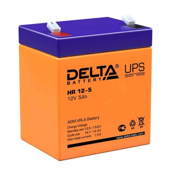 Аккумулятор Delta 12V 5Ah HR 12-5