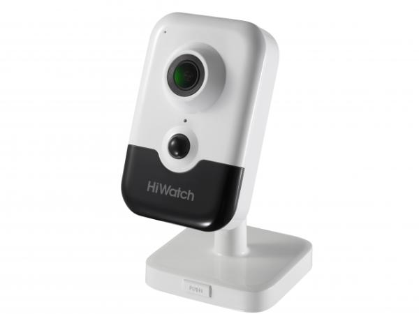 Компактная IP-видеокамера HiWatch DS-I214(B) (2.0 mm) с ИК-подсветкой до 10м