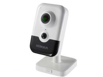 Компактная IP-видеокамера HiWatch DS-I214(B) (2.8 mm) с ИК-подсветкой до 10м