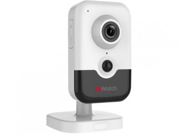 Компактная IP-видеокамера HiWatch DS-I214W(B) (2.8 mm) с ИК-подсветкой до 10 м и Wi-Fi