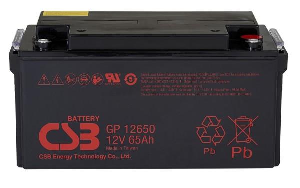 Аккумулятор CSB 12V 65Ah GP12650
