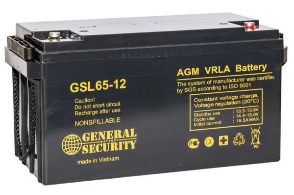 Аккумулятор General Security 12V 65Ah GSL65-12