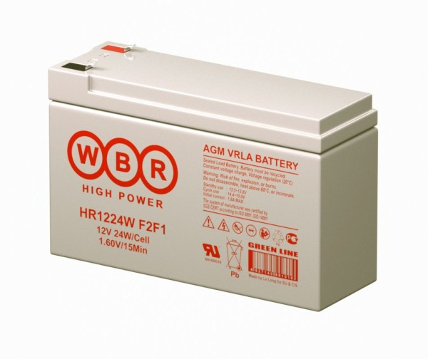 Аккумулятор WBR 12V 6Ah HR1224W