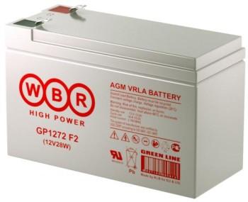 Аккумулятор WBR 12V 7,2Ah (28W) GP1272 F2