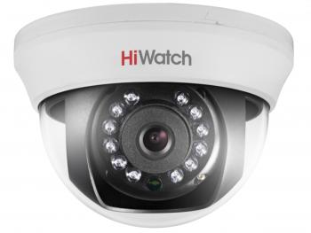 Купольная HD-TVI видеокамера HiWatch DS-T101 (2.8) с ИК-подсветкой до 20м