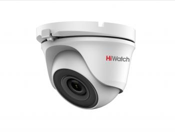 Купольная HD-TVI видеокамера HiWatch DS-T123 (2.8 mm) с EXIR-подсветкой до 20м