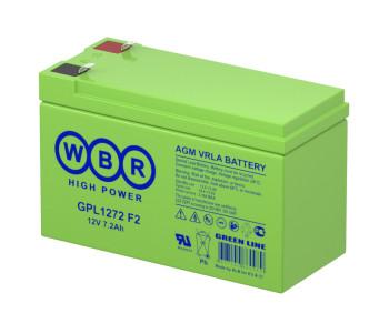 Аккумулятор WBR 12V 7,2Ah GPL1272
