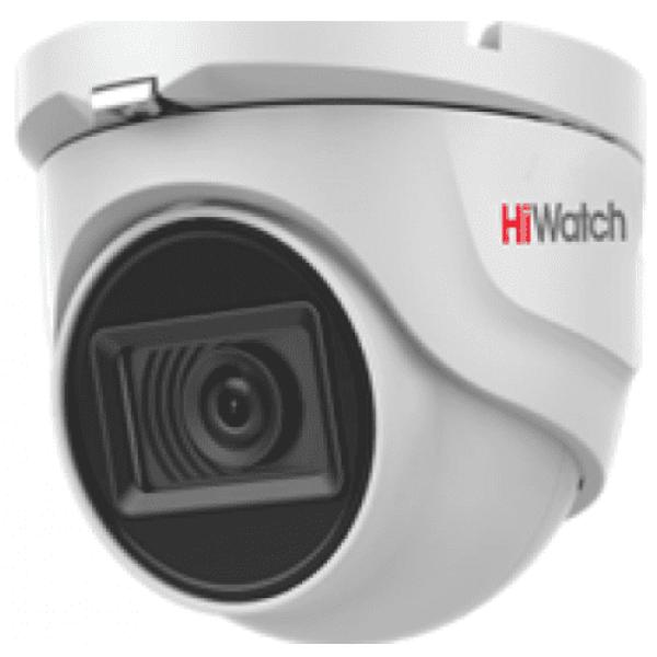 Купольная HD-TVI видеокамера HiWatch DS-T203A (2.8 mm) с EXIR-подсветкой до 30 м и микрофоном