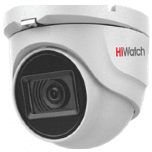 Купольная HD-TVI видеокамера HiWatch DS-T203A (6 mm) с EXIR-подсветкой до 30 м и микрофоном