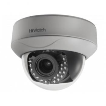 Купольная HD-TVI видеокамера HiWatch DS-T207P (2.8-12 mm) 2Мп с ИК-подсветкой до 30м