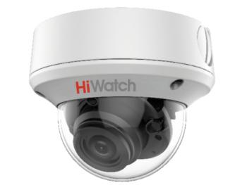 Купольная HD-TVI видеокамера HiWatch DS-T208S (2.7-13,5 mm) с EXIR-подсветкой до 60м