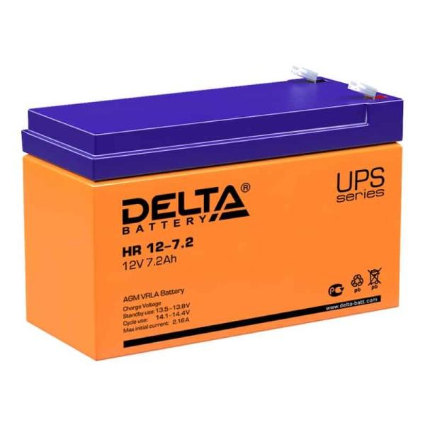 Аккумулятор Delta 12V 7.2Ah HR 12-7.2