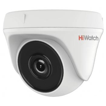 Купольная HD-TVI видеокамера HiWatch DS-T233 (6 mm) с EXIR-подсветкой до 40м