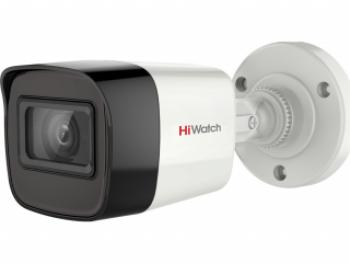 Цилиндрическая HD-TVI видеокамера HiWatch DS-T500A (3.6 mm) 5Мп с EXIR-подсветкой до 30м