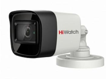 Цилиндрическая HD-TVI видеокамера HiWatch DS-T800 (6 mm) с ИК-подсветкой до 30м