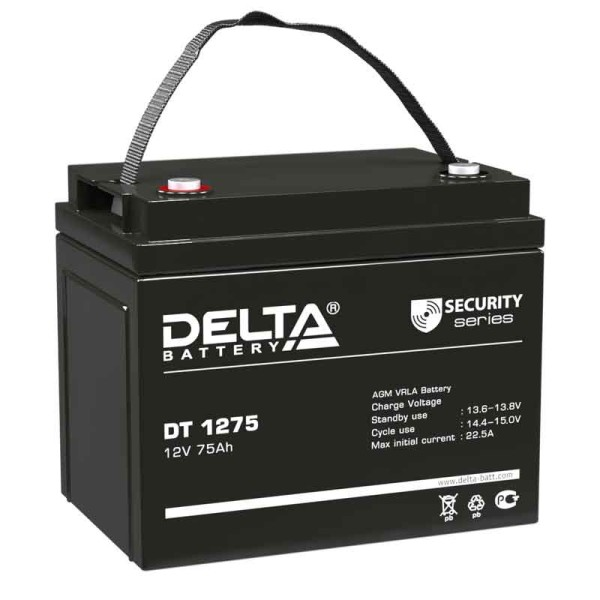 Аккумулятор Delta 12V 75Ah DT 1275