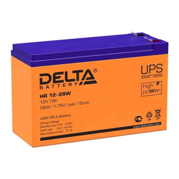Аккумулятор Delta 12V 7Ah HR 12-28 W