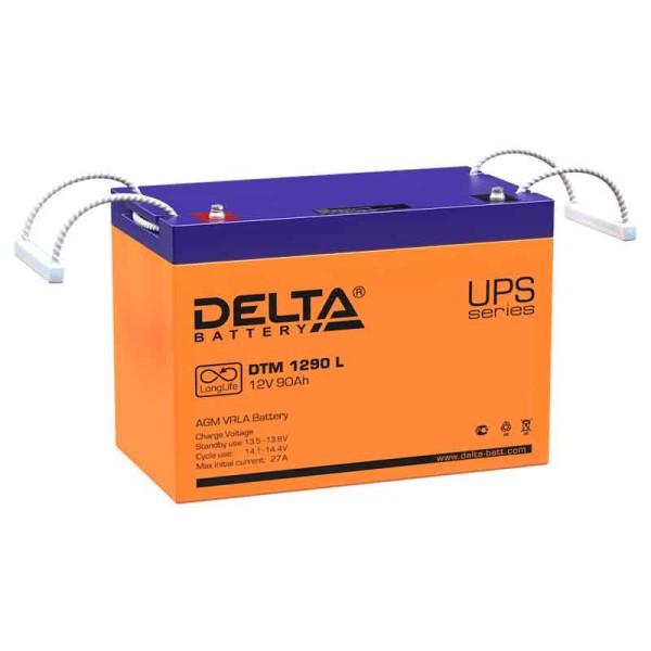Аккумулятор Delta 12V 90Ah DTM 1290 L