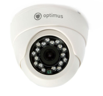 Купольная видеокамера Optimus ID-736s с ИК-подсветкой до 20 м
