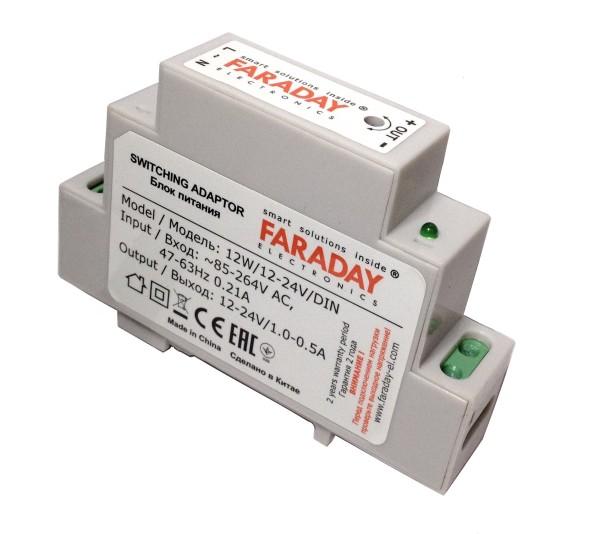 Блок питания импульсный Faraday 12W/12-24V/DIN