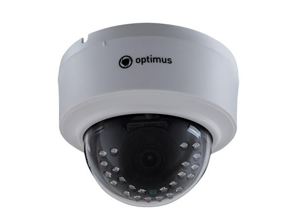 Купольная IP-видеокамера Optimus IP-E021.0(2.8) с ИК-подсветкой до 20 м