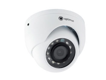 Купольная IP-видеокамера Optimus IP-E052.1(3.6)A_H.265 c ИК-подсветкой до 10 м