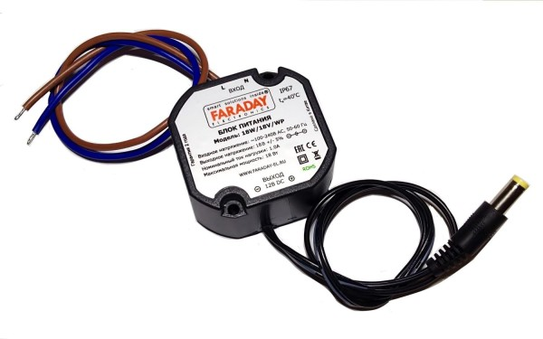 Блок питания импульсный Faraday 18W/18V/WP