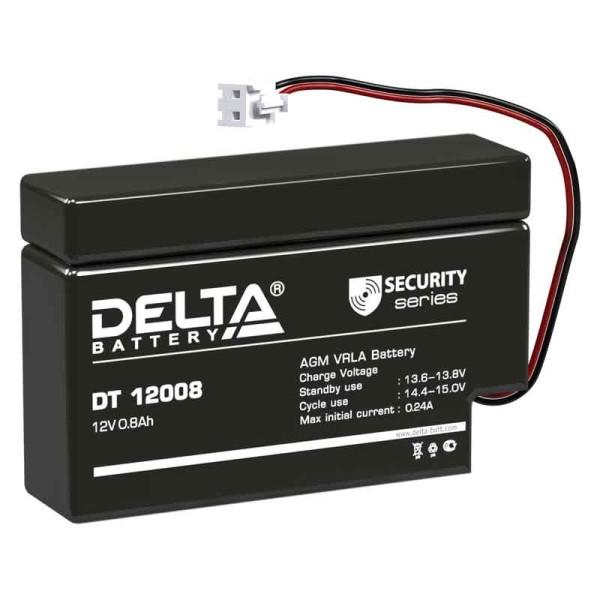 Аккумулятор Delta 12V 0.8Ah DT 12008 (T13)