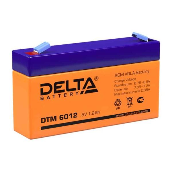 Аккумулятор Delta 6V 1,2Ah DTM 6012