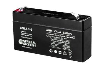 Аккумулятор General Security 6V 1,3Ah GSL1.3-6