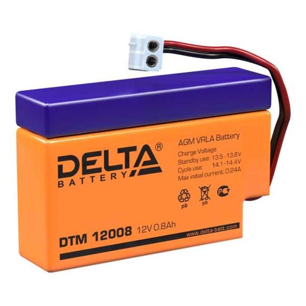 Аккумулятор Delta 12V 0.8Ah DTM 12008