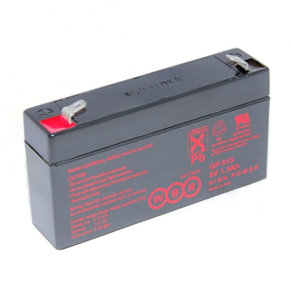 Аккумулятор WBR 6V 1,3Ah GP613
