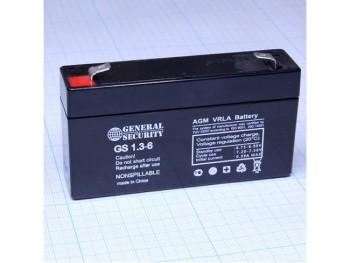 Аккумулятор General Security 6V 1,3Ah GS 1.3-6