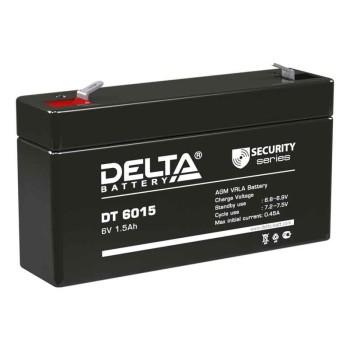 Аккумулятор Delta 6V 1,5Ah DT 6015