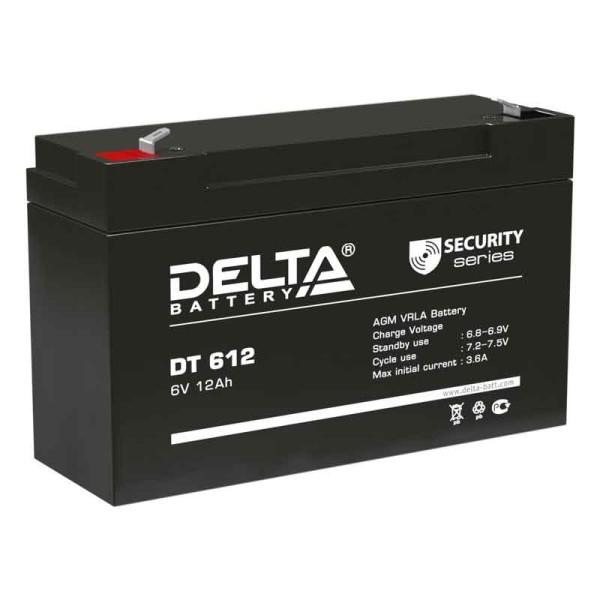Аккумулятор Delta 6V 12Ah DT 612