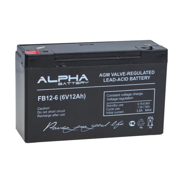 Аккумулятор ALFA Battery 6V 12Ah FB 12-6