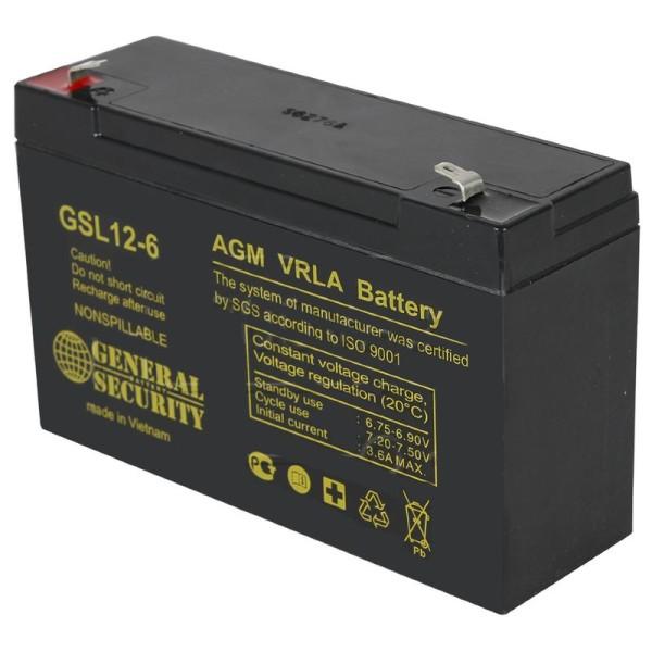 Аккумулятор General Security 6V 12Ah GSL12-6