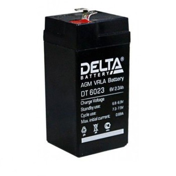 Аккумулятор Delta 6V 2,3Ah DT 6023