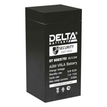 Аккумулятор Delta 6V 2,3Ah DT 6023 (75мм)