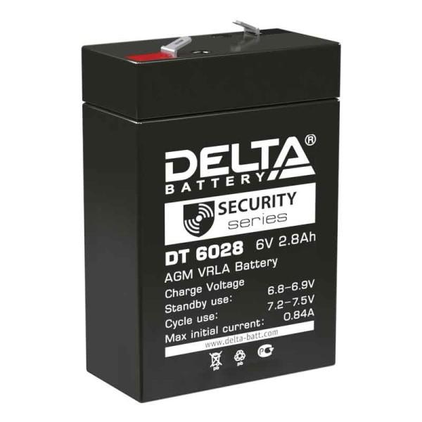 Аккумулятор Delta 6V 2,8Ah DT 6028