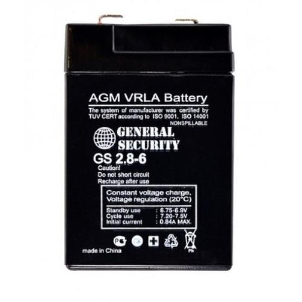 Аккумулятор General Security 6V 2,8Ah GSL2.8-6