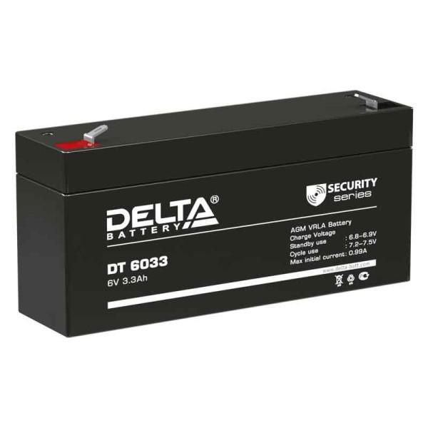 Аккумулятор Delta 6V 3,3Ah DT 6033